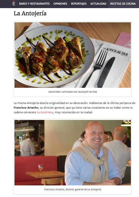 Gurmé ABC de Sevilla, Marzo 2017