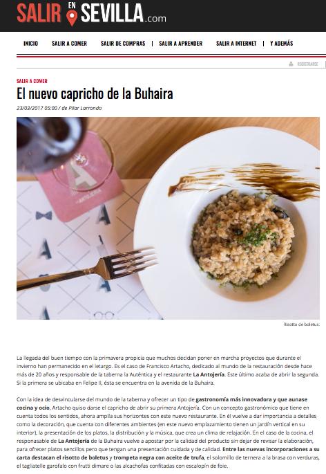 Diario de Sevilla, La Antojeria